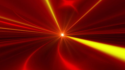 red abstract loop motion background, yellow light