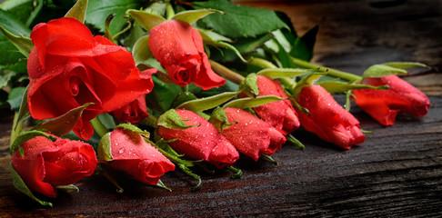 rose rosse sfondo vintage