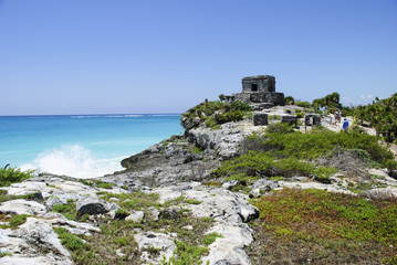 Ancient Mayan ruins seaside