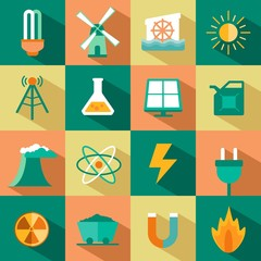 vector set of energy icons