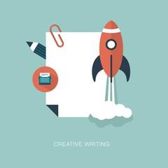 vector creative writing concept illustration