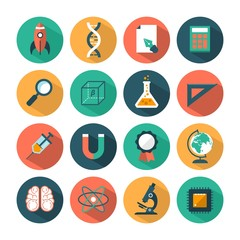 set of modern vector science icons