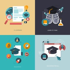 vector set of education banners