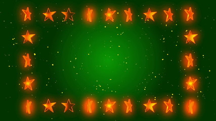 abstract loop motion background, frame stars