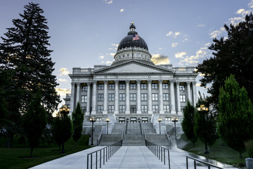 Side view of the Utah Capital building