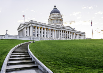 Stair lead to the Capital building of Utah