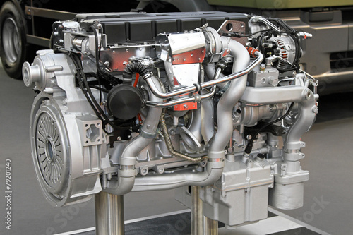 Leinwandbild Motiv Truck engine