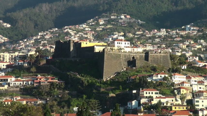 Pico fortress in Funchal, Madeira Island, zoom out