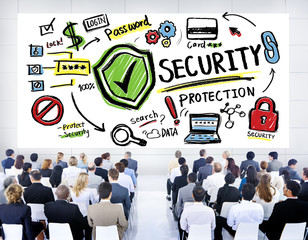 Ethnicity Business People Security Protection Conference Seminar