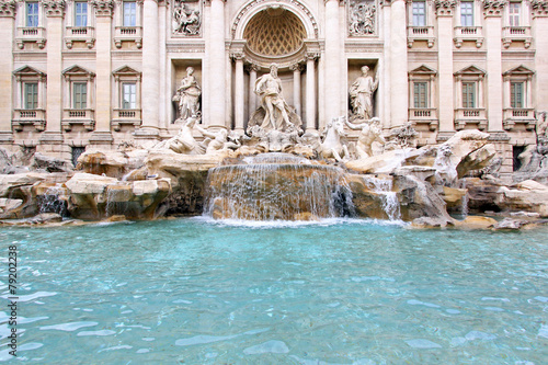Staande foto Fontaine fountain di trevi scoulpture