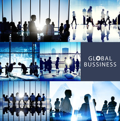 Business People Interaction Meeting Team Working Global Concept