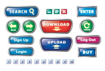 Website basic button set