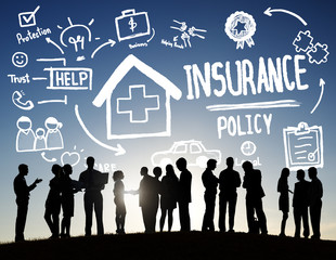 Diversity Business People Insurance Policy Discussion Concept