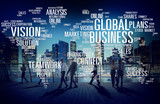 Global Business World Commercial Business People Concept - Fine Art prints