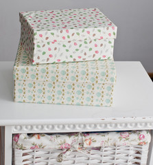 Two boxes on the bedside