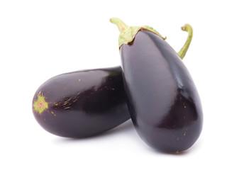 Eggplant vegetable on white