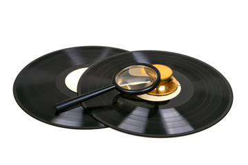 vinyl records and accessories