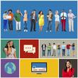 Community Communication Networking Technology Content Concept