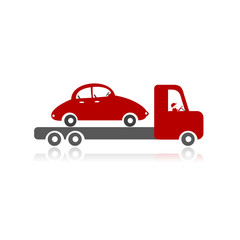 Evacuator with car for your design