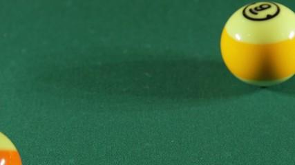 Playing billiard game on pool table