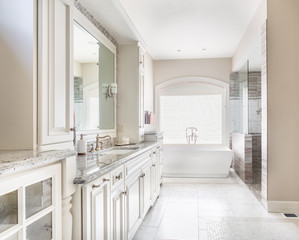 Beautiful master bathroom in new luxury home