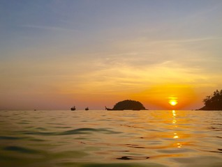Kata beach sunset island