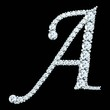 diamond letters with gemstones - 79208030