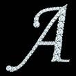 diamond letters with gemstones - 79208030