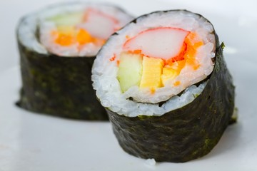 California hand roll sushi