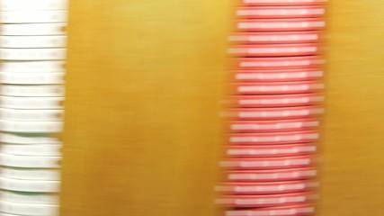Casino poker chips - gambling concept