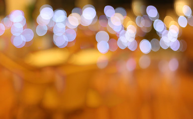 Background blur of Restaurants cafe.