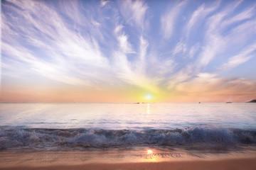sky and sea sunset landscape