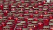 Candles in red glass lanterns funeral or religious theme