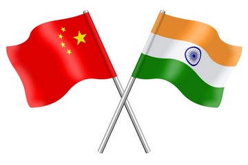 Flags: China and India