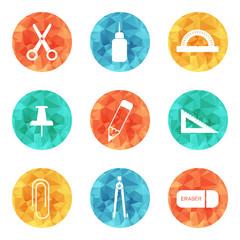 Stationery icons.