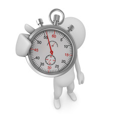 Man and stopwatch