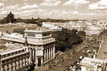 Spain. Top view of the city of Madrid