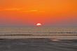 Leinwanddruck Bild - Sonnenuntergang am Meer