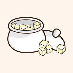 Sugar cubes theme elements vector,eps