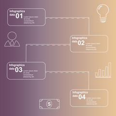 Infographic steps of business success with beautiful colors