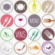 collection icône restaurant