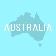 white inscription on silhouette of Australia