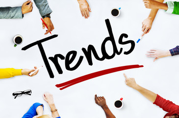Multiethnic People Discussing About Trends Concept