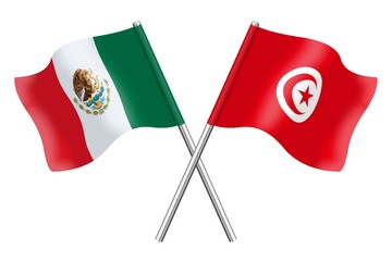 Flags: Mexico and Tunisia