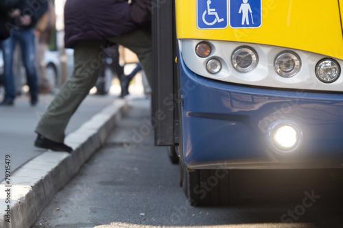 Leinwanddruck Bild Public transportation.
