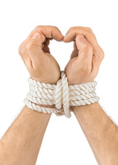 Bound hands and heart