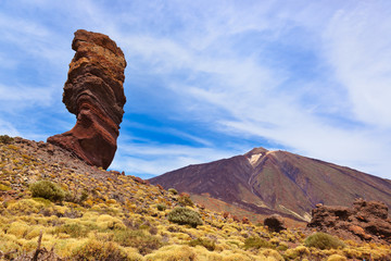 Finger Of God rock at volcano Teide in Tenerife island - Canary