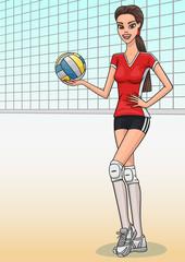 Volleyball girl.