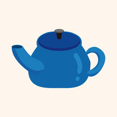 kitchenware tea pot theme elements vector,eps