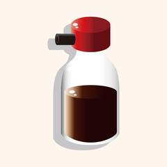 kitchenware sauce bottle theme elements vector,eps
